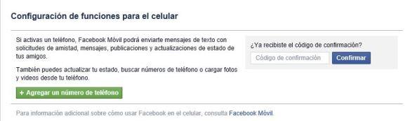 configuracion de celular - facebook